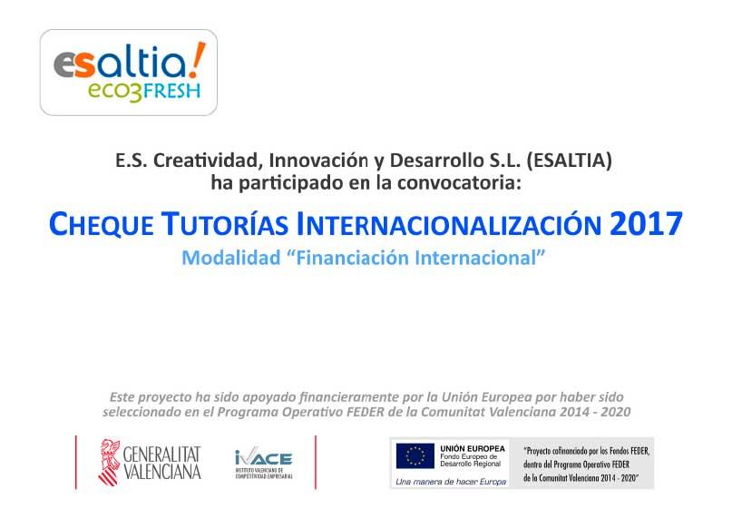 Cheque Tutorías Internacionalización 2017